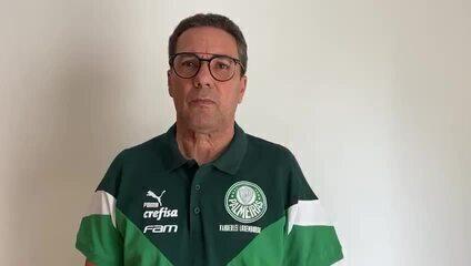 Vanderlei Luxemburgo, técnico do Palmeiras, agradece a profissionais de saúde