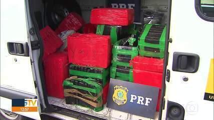 Cerca de duas toneladas de droga foram apreendidas nesta quarta-feira