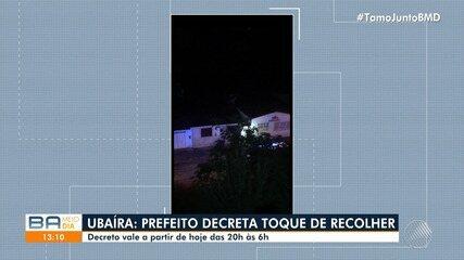 Prefeito de Ubaíra decreta toque de recolher a partir desta quarta-feira