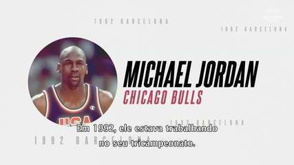 Michael Jordan comanda o Dream Team do basquete americano nas Olimpíadas de Barcelona-1992