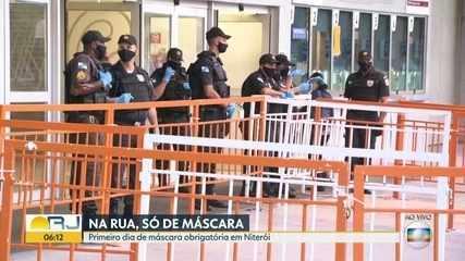 Rio e Niterói tem uso e obrigatório de máscara