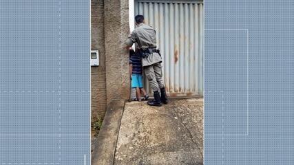 Menino fica com cabeça presa em portão eletrônico, em Goianésia