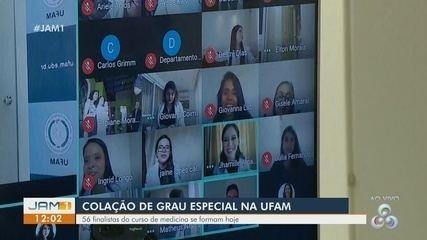 Finalistas de medicina participam de colação de grau especial na Ufam