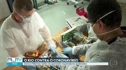 Respiradores quebrados são recuperados pelo Senai e por fábricas