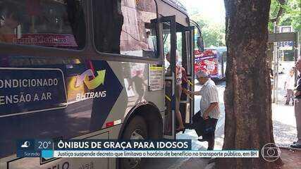 Justiça suspende proibição da gratuidade de idosos no transporte público, em BH