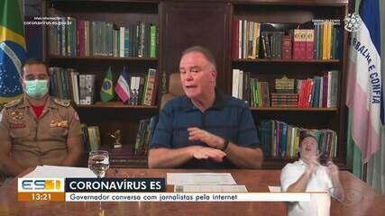 Renato Casagrande fala sobre combate ao coronavírus