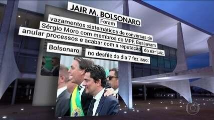 Bolsonaro não contesta troca de mensagens apresentada por Moro