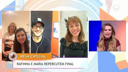 Rafinha e Maria Melilo, vencedores do BBB, comentam sobre a Final na Mesa-Redonda BBB