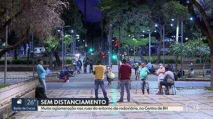 Domingo tem ruas cheias do entorno da rodoviária, no Centro de BH