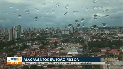 Choveu em João Pessoa 17% do esperado para o mês de abril