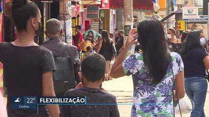 Comércio de Santa Luzia reabre, após decreto que flexibiliza isolamento social