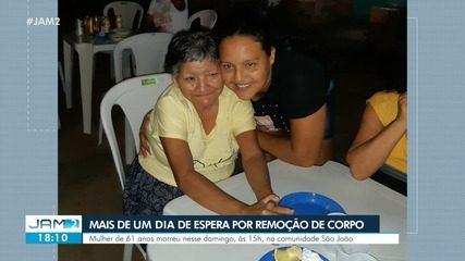 Família espera por mais de um dia para remoção de corpo de idosa em Manaus