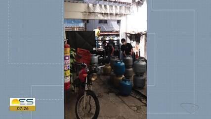 Polícia Civil e Procon interditaram revendedora de gás clandestina em Vila Velha na segunda-feira
