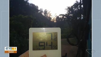 Moradora de Domingos Martins registra 7º C no início da manhã