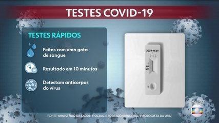 Especialista explica como funciona o teste rápido para Covid-19