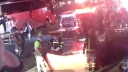Acidente deixa feridos na Rodovia Castello Branco em Araçariguama