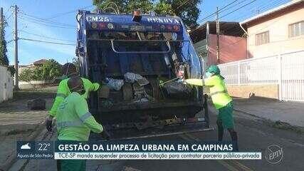 TCE-SP determina suspensão de licitação aberta por Campinas para contratar PPP do lixo