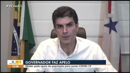 Governador Helder Barbalho pede apoio da população para combater a Covid-19 no Pará