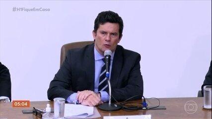 Ex-ministro Sergio Moro presta depoimento na sede da Polícia Federal, no Paraná