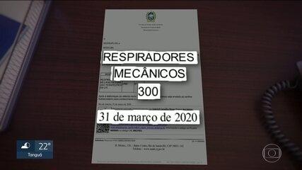 Governo do estado compra mais de 700 respiradores e equipamentos não chegam
