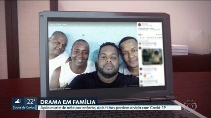 Dois irmãos morrem por Covid-19 após mãe enfartar e perder a vida