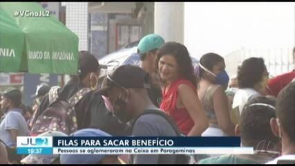 Paragominas registra fila em frente à Caixa para pagamento dos R$600