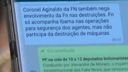 Ao exibir mensagens com Moro, Bolsonaro mostra conversa sobre operações do Ibama