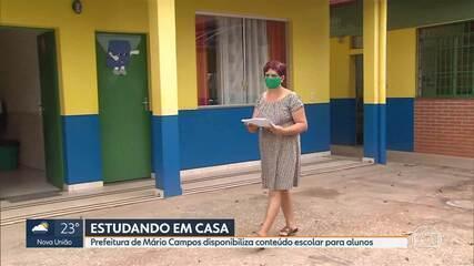 Prefeitura de Mário Campos disponibiliza conteúdo escolar para alunos da rede municipal