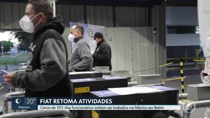 35% dos funcionários voltam ao trabalho na Fiat, em Betim