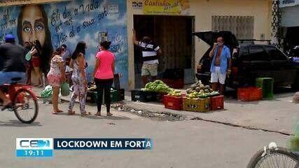 Quarto dia de 'lockdown' em Fortaleza tem descumprimento do decreto de isolamento