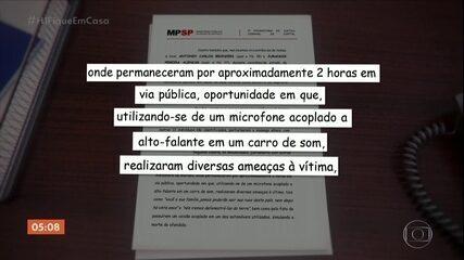 MP de SP denuncia dois homens que protestaram na casa do ministro Alexandre de Moraes
