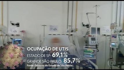 Pacientes de Covid lotam hospitais da rede pública em SP