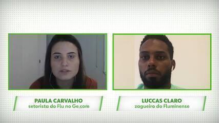 """Luccas Claro torce para volta de Fred: """"Clube vencedor precisa de jogadores vencedores"""""""