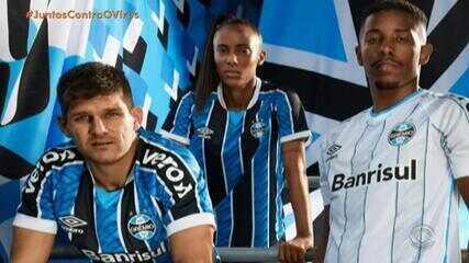 Grêmio apresenta novas camisas; confira