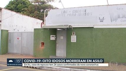 Oito idosos morrem por causa da Covid-19 em asilo de Itu, no interior de São Paulo