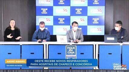 Hospitais de Chapecó e Concórdia recebem novos leitos de UTI