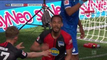 Matheus Cunha faz golaço na vitória do Hertha Berlin sobre o Hoffenheim