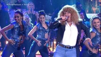 Nelson Freitas homenageia Tina Turner no Show dos Famosos