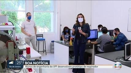 Alunos da UFF desenvolvem protótipo de respirador