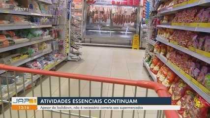 Lockdown: supermercados em Macapá orientam público a não correr para estocar comida