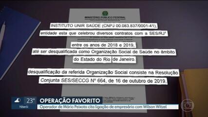 Operador financeiro de Mário Peixoto cita ligação de empresário com Wilson Witzel