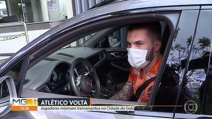 Em pequenos grupos, jogadores do Atlético-MG retomam os treinos na Cidade do Galo