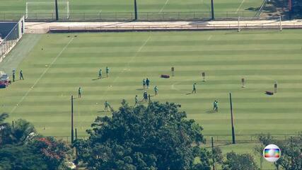 Confira imagens do treino do Flamengo