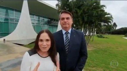 Jair Bolsonaro anuncia a saída de Regina Duarte da Secretaria Especial de Cultura