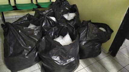 PM apreende cerca de 24 mil embalagens com cocaína em Suzano