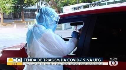 UFG monta tenda para triagem de casos suspeitos de Covid-19, em Goiânia