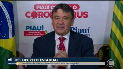 Governador prorroga isolamento social até dia 7 de junho no Piauí