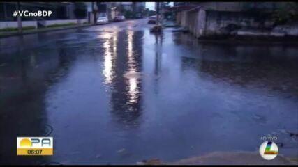 Chuva na madrugada causa alagamentos em vários pontos de Belém