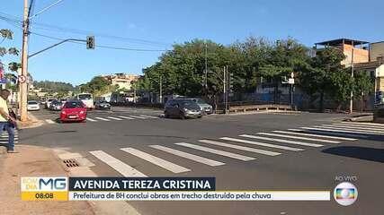 Prefeitura de Belo Horizonte conclui obra em avenida destruída pela chuva de janeiro