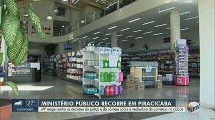Ministério Público recorre contra a decisão de reabertura do comércio em Piracicaba